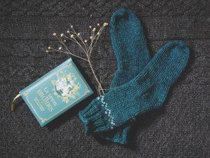 chaussettes bleues