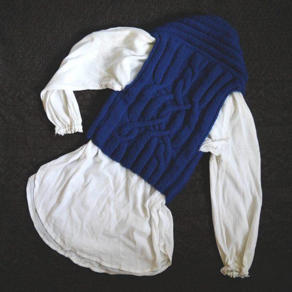 Moto vest bleue back