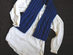 Moto vest bleue